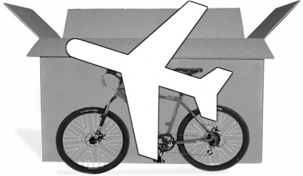 """Bicycle transport """"Express"""" delivery by air freight"""