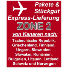 """Express delivery from Gran Canaria to """"Zone 2"""" countries"""
