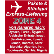 """Express delivery from Gran Canaria to """"Zone 4"""" countries"""