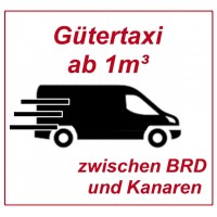 Freight from 1 cubic meter (from 10 moving boxes) in a goods taxi