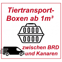 Animal transport boxes return / transfer from 1 cubic meter in a freight taxi