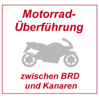 Motorcycle transfer / transport with cargo van between Germany / EU and Canary Islands