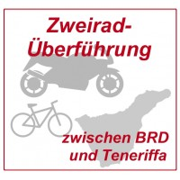 Motorcycle transfer with cargo van between FRG / EU and Tenerife