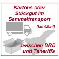 Freight in moving box (1-9 pieces) in collective load between BRD and Tenerife