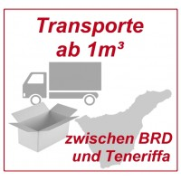 Freight per cubic meter (from 10 boxes) by groupage transport from and to Tenerife