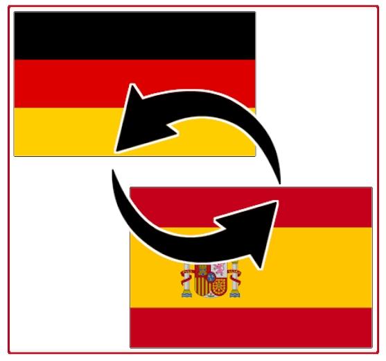 Transporte zwischen Deutschland und Spanien (Festland) Spedition Logistik