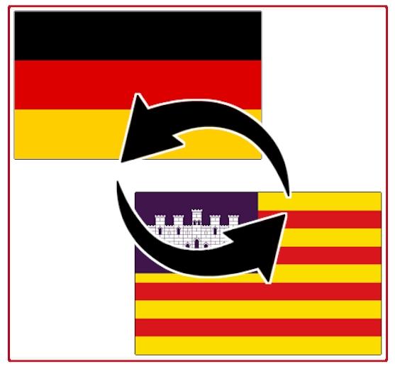 Transporte zwischen Deutschland und Balearen / Mallorca